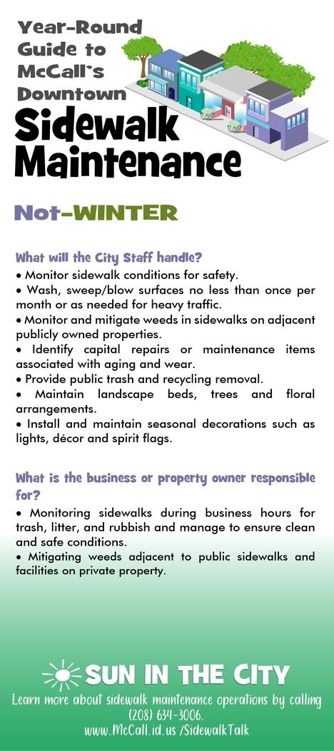 Not Winter Sidewalk Guide